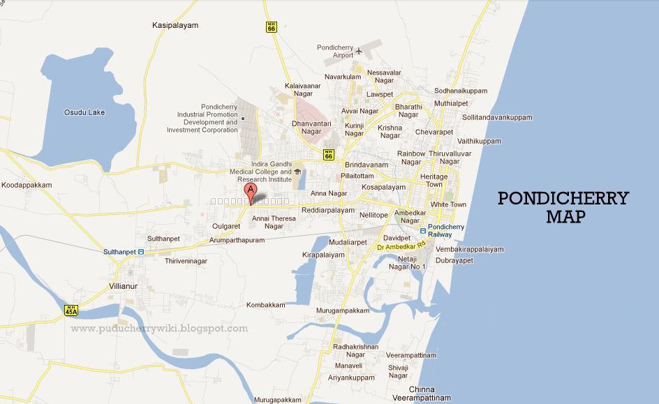 Map Of Pondicherry Or Puducherry Puducherry Informations - Pondicherry map