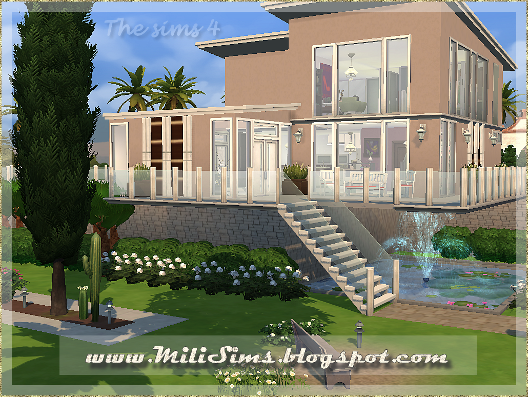 Casa moderna 2 the sims 4 for Sims 4 piani di casa