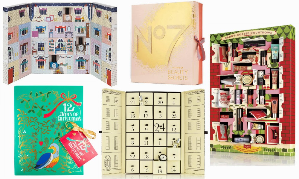 TOP 5 BEAUTY ADVENT CALENDARS 2014 - Beauty and the Bird