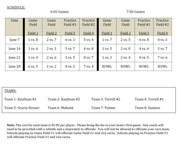 7 team schedule template - terrell talk 7 on 7 football schedule released