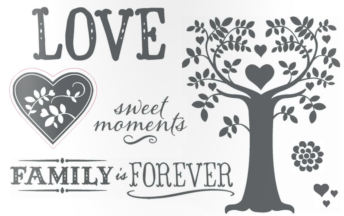 family is forever stamp set