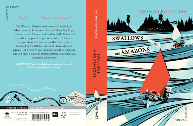 Posti cover art 'Swallows and Amazons'.