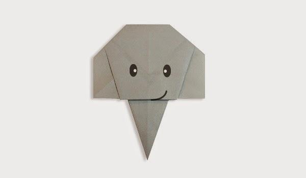 Hướng dẫn cách gấp giấy Mặt con Voi - Xếp hình Origami với Video clip