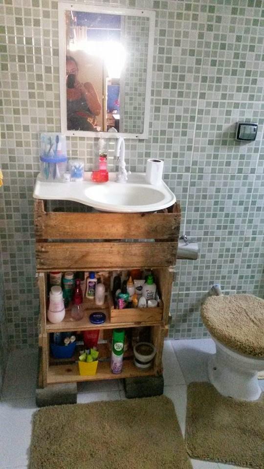 Mistura do Lar Faça você mesmo, a casa de minha amiga ERIKA -> Armario Para Banheiro Faca Voce Mesmo