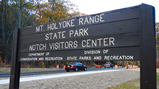 Mt. Holyoke Range State Park sign at The Notch