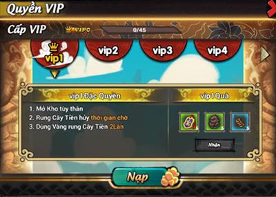 Hướng dẫn nâng cấp VIP trong game Lãng Khách