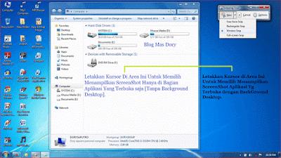Pilihan ScreenShot Menggunakan Aplikasi Snipping Tool Jenis Window Snip Blog Mas Dory