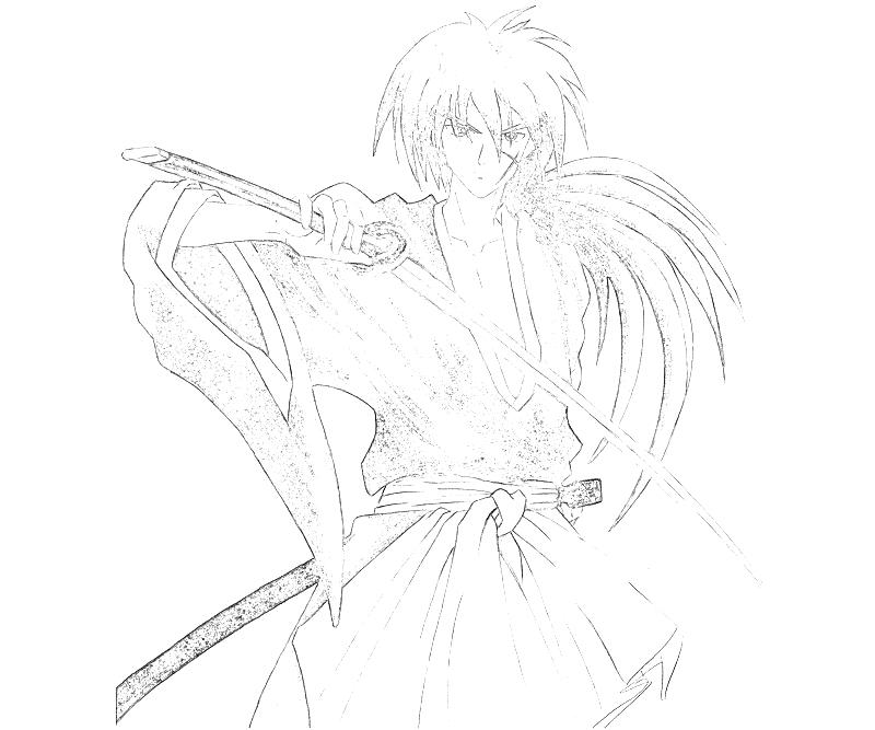 coloring pages for rurouni kenshin - photo#18