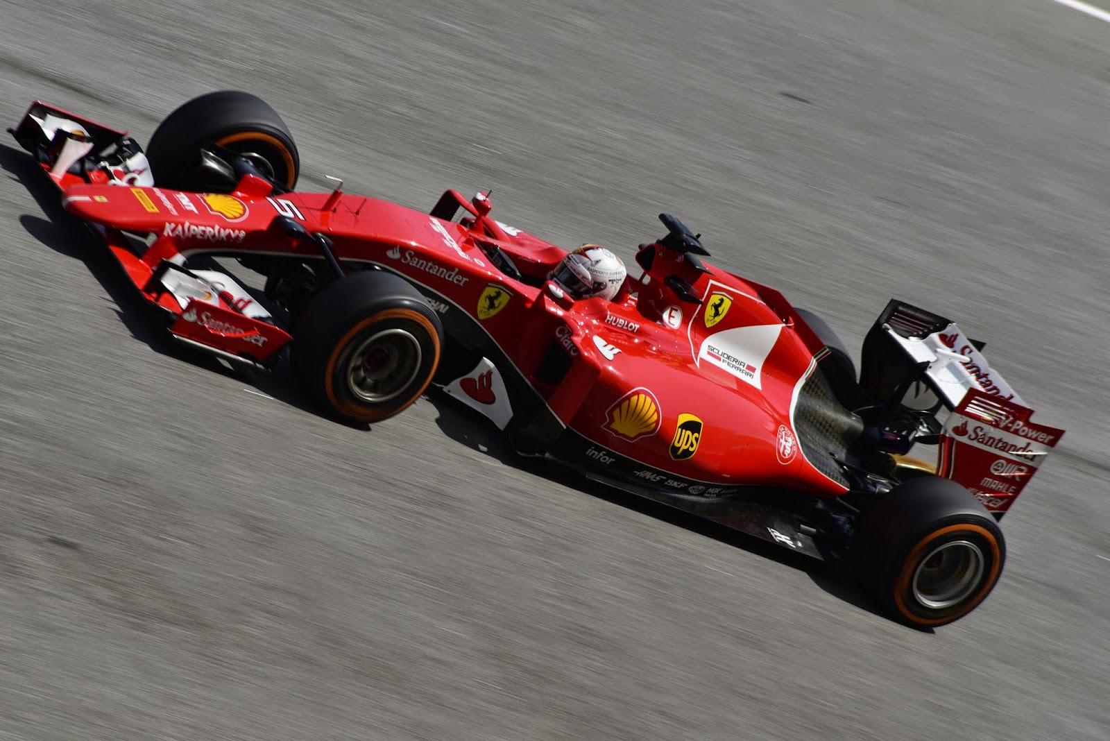 Motorsport racing with Sebastian Vettel in Malaysia