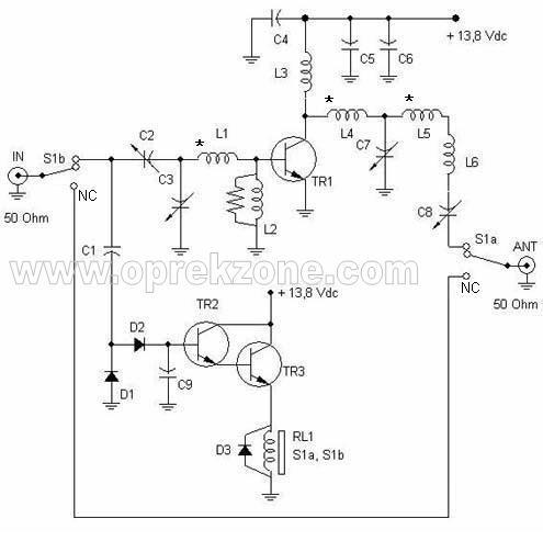 Berikut jalur PCB untuk Boster Pemancar FM 2 Meter Band 10 Watt di ...