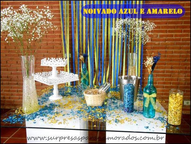 mesa decoração noivado