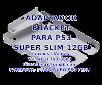 Adaptador Soporte Mounting Bracket no Sony para PS3 SUPERSLIM Disco duro 12GB, Lince, Los Olivos Peru