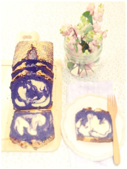 Cherie Kelly's Sweet Taro Chiffon Marble Cake