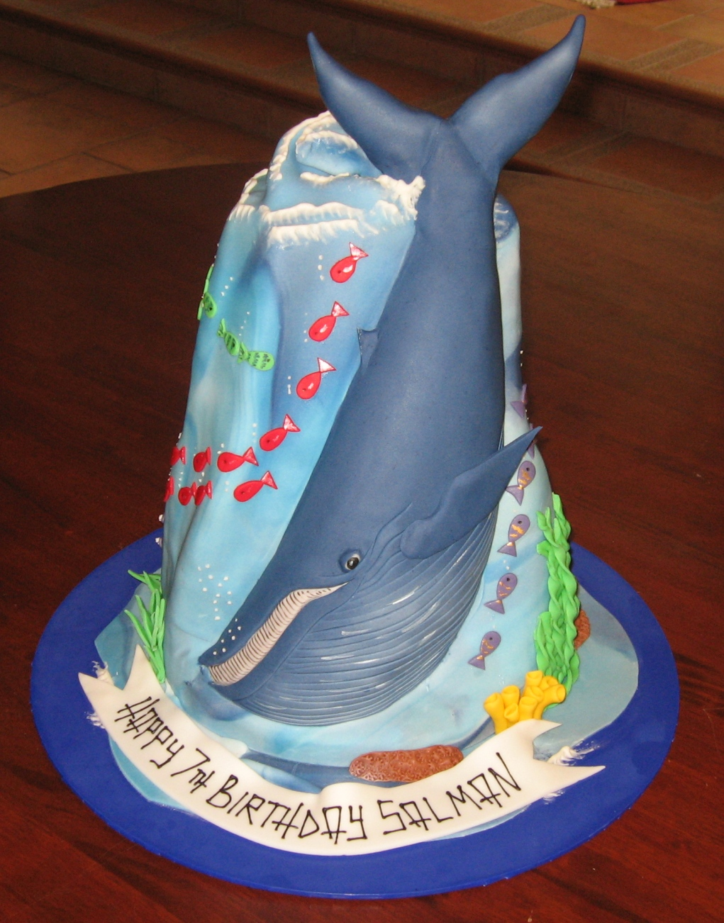 how to make a whale cake