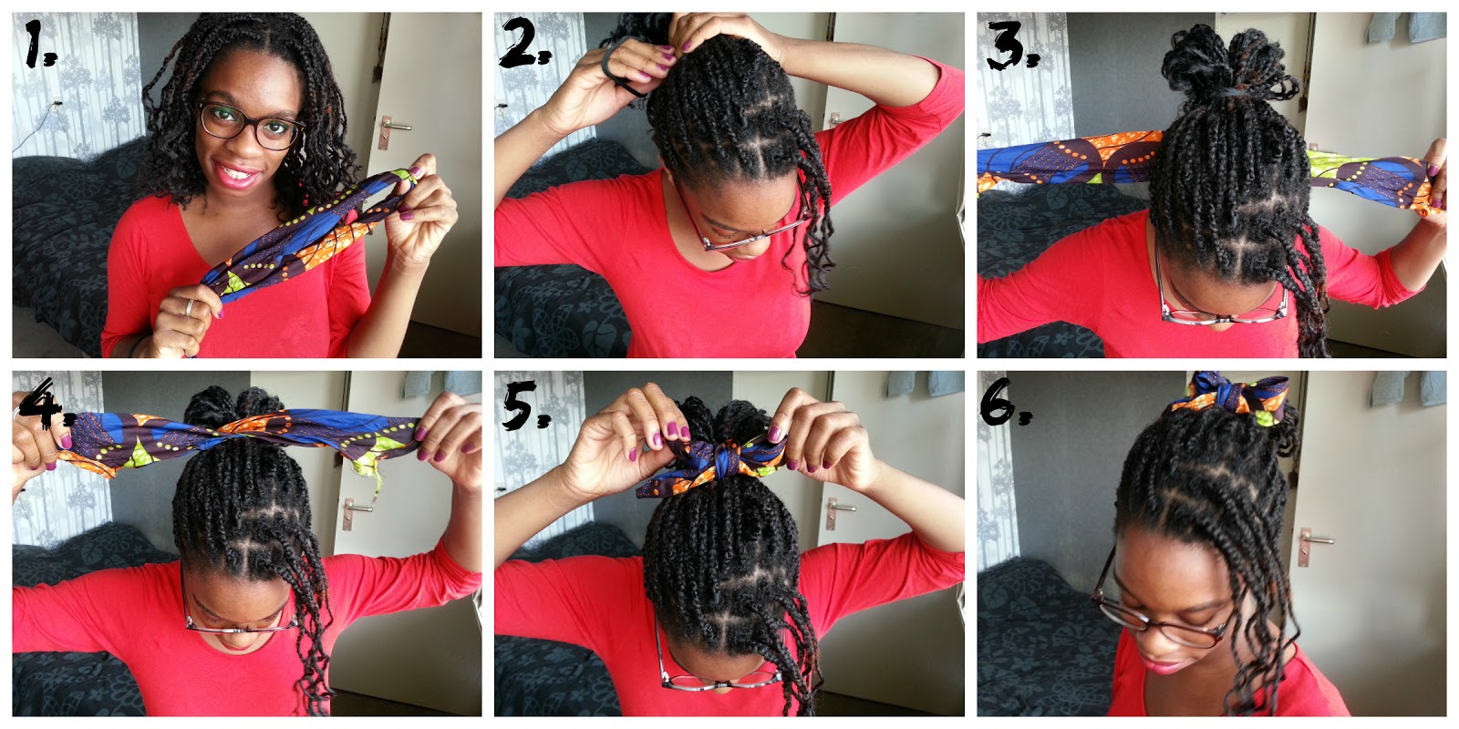 How to Style Box Braids with a Bandana