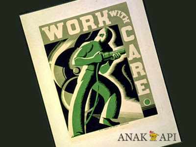 Poster Kuno 1936: Work With Care