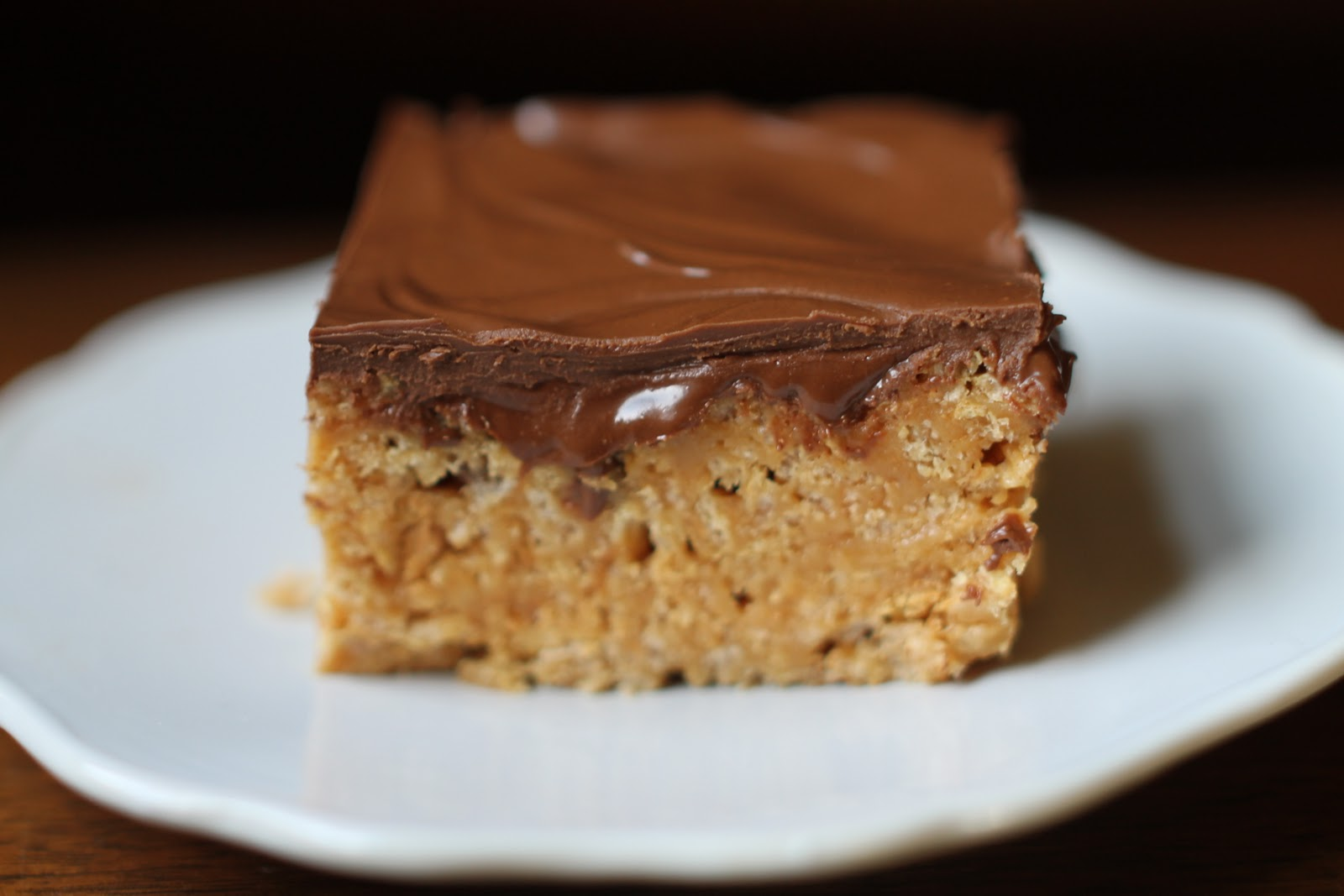 You must use Special K cereal in this recipe. Puffed rice cereals become soggy in the rich caramel peanut butter mixture. The crisp cereal stays crunchy and gives the bars the most satisfying chewy texture that is perfectly complemented by the creamy frosting that stays soft and velvety.