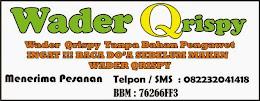 WADER QRISPY  TANPA PENGAWET