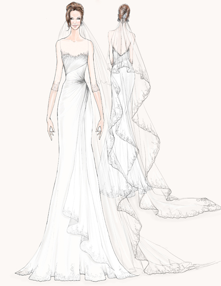 the serendipitist: Angelina Jolie\'s Fantasy Wedding Gown Sketches ...