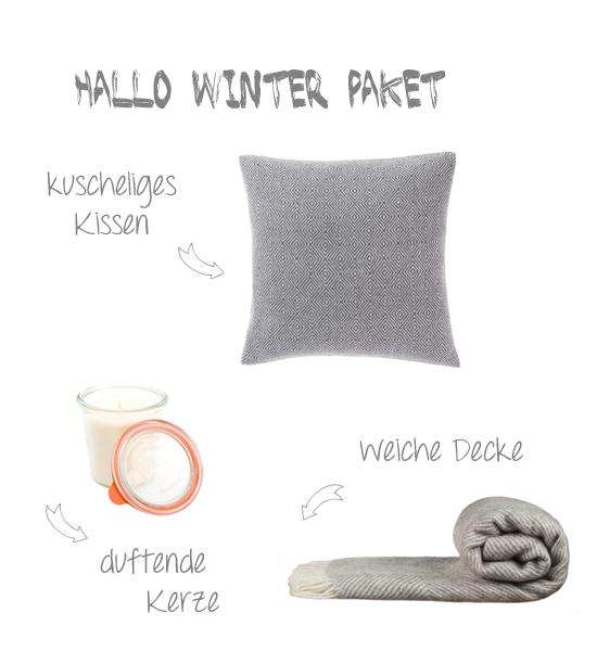 Hallo Winter Kissen und Decke von urbanara