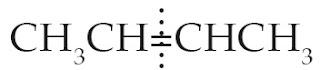 ikatan rangkap membagi sama banyak atom C dan atom H, sehingga simetris