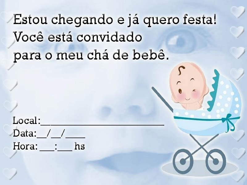 Convite para chá de bebê para imprimir 19