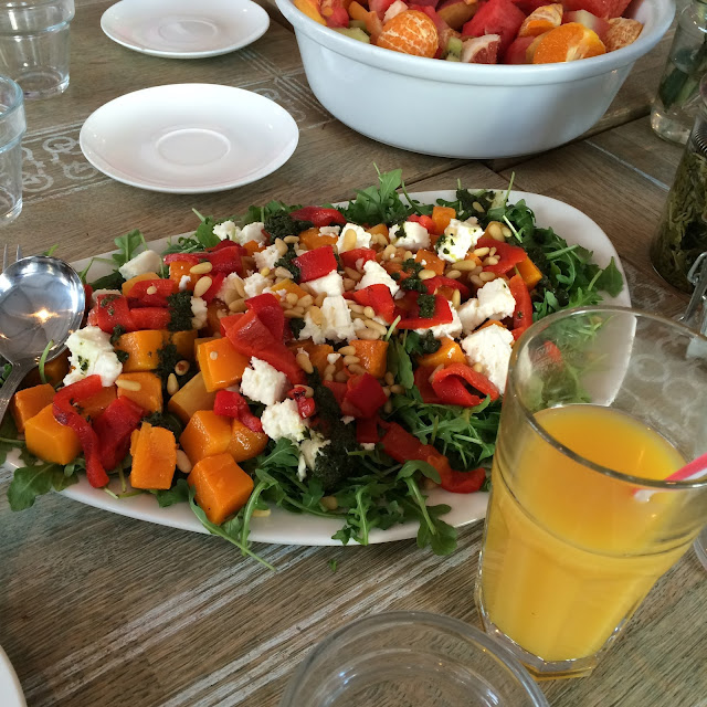 proper tea rooms feta and pepper salad blogger brunch with get the label