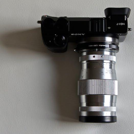 sony nex-7 canon 135mm ltm