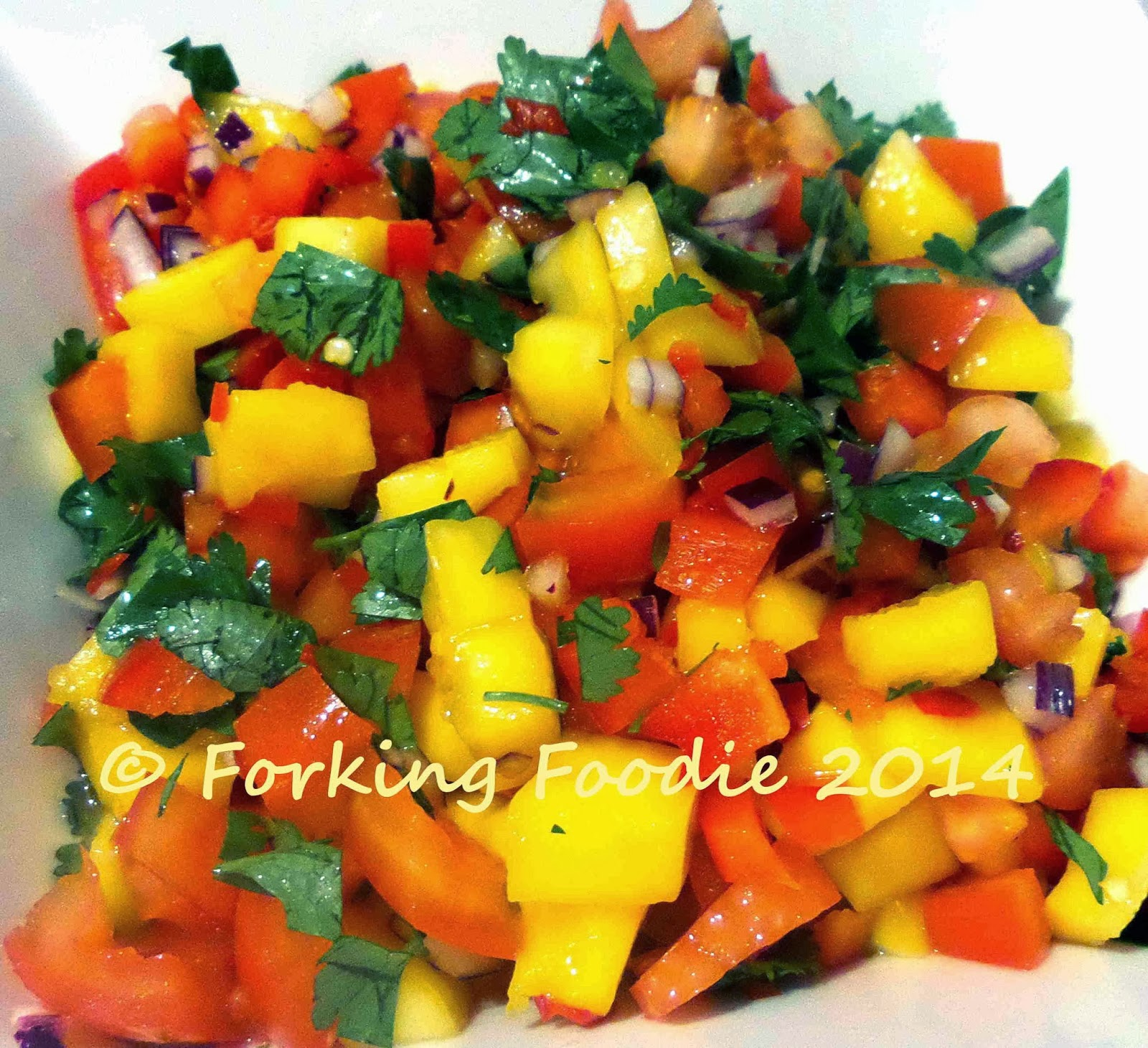 Forking Foodie: Mango, Red Pepper and Coriander Salsa