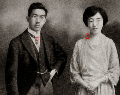 empereur Hirohito et impératrice Nagako