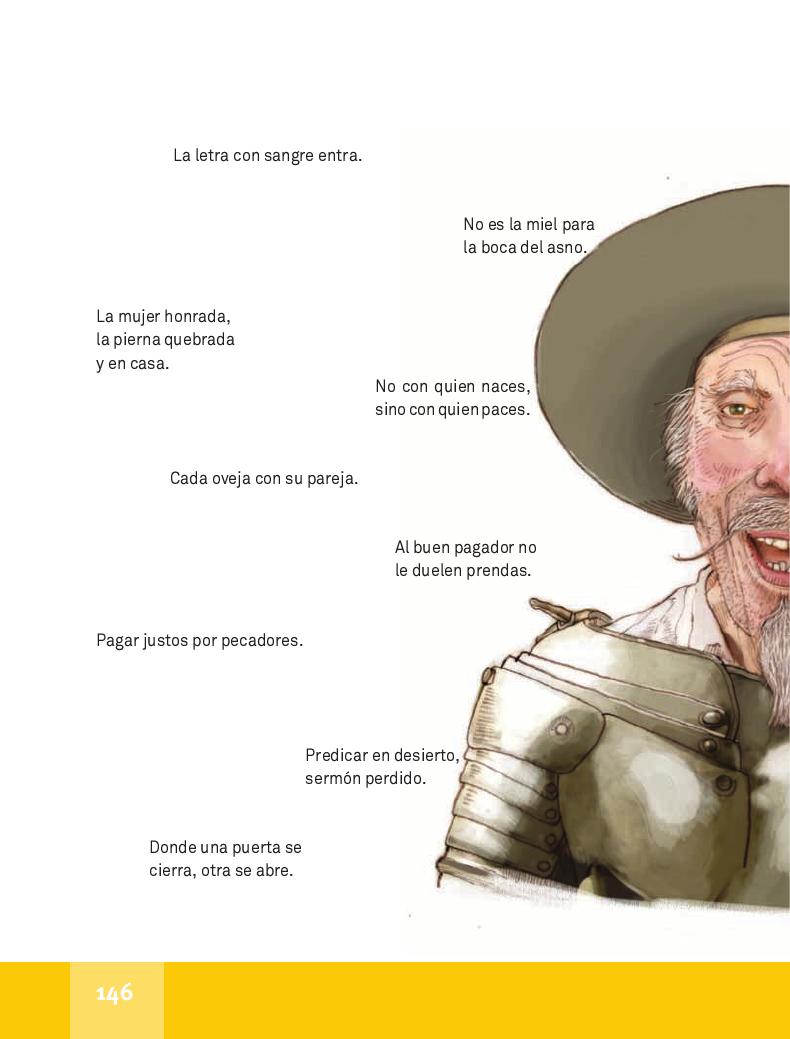 Refranes del Quijote - Español Lecturas 4to 2014-2015