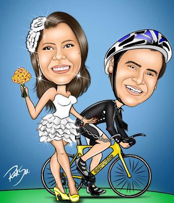 Caricatura de ciclista