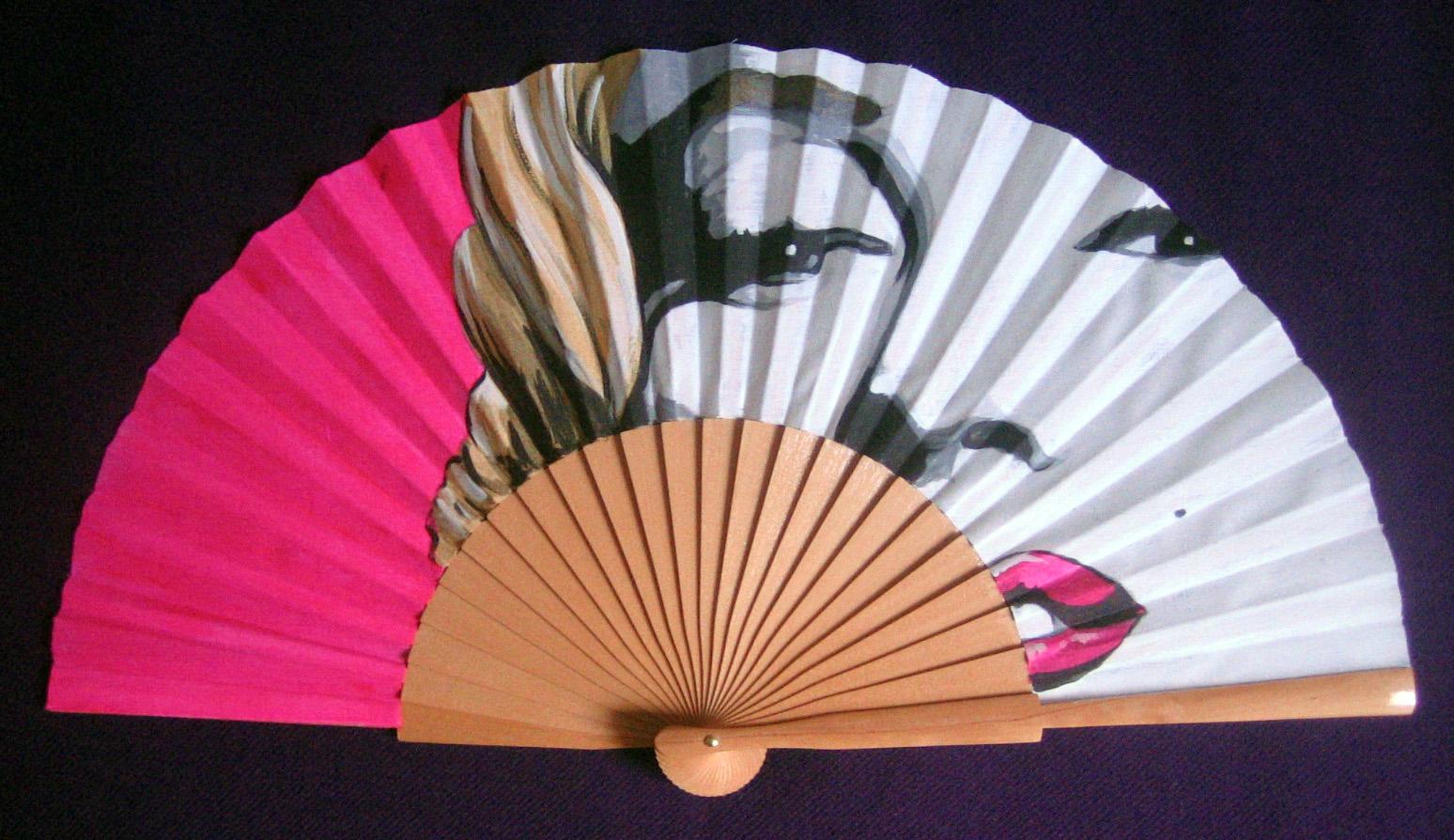 Menchu gamero abanicos pintados a mano con motivos - Abanicos para pintar ...