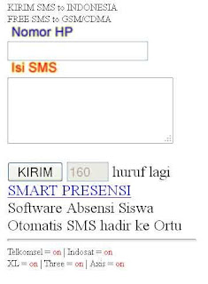 Trik SMS Gratis Semua Operator Via Internet