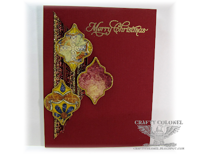 Crafty Colonel Donna Nuce for Club Scrap Moroccan Spice Blog Hop, Christmas Card,