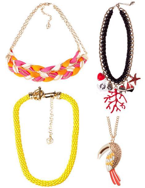En Bimba  Lola también hay unos collares muy bonitos pero mucho más caros que los anteriores. El de cadenas de colores cuesta 68 euros, el de lentejuelas
