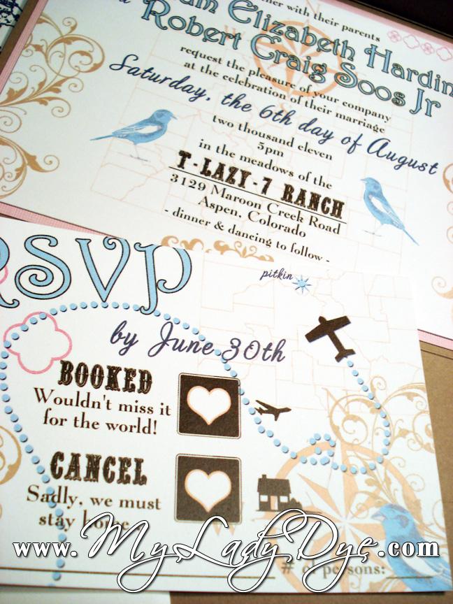 SUPER Cute Atlas Map Wedding Invitation