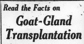 John R Brinkley Goat Gland Ad