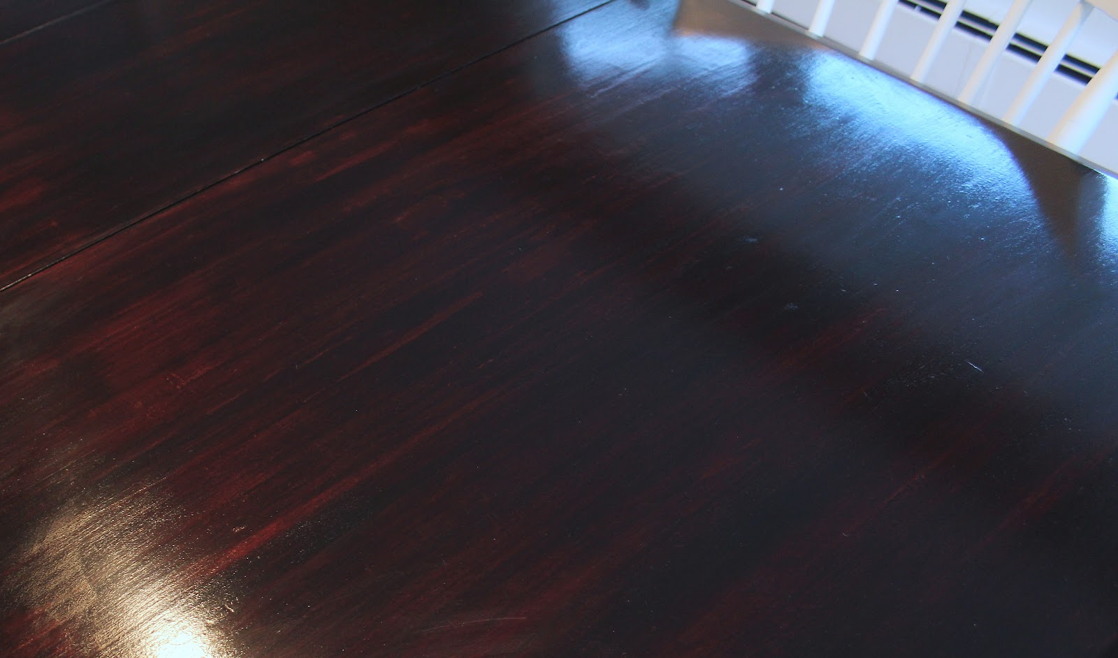 A kitchen table makeover shine your light - Restaining kitchen table ...