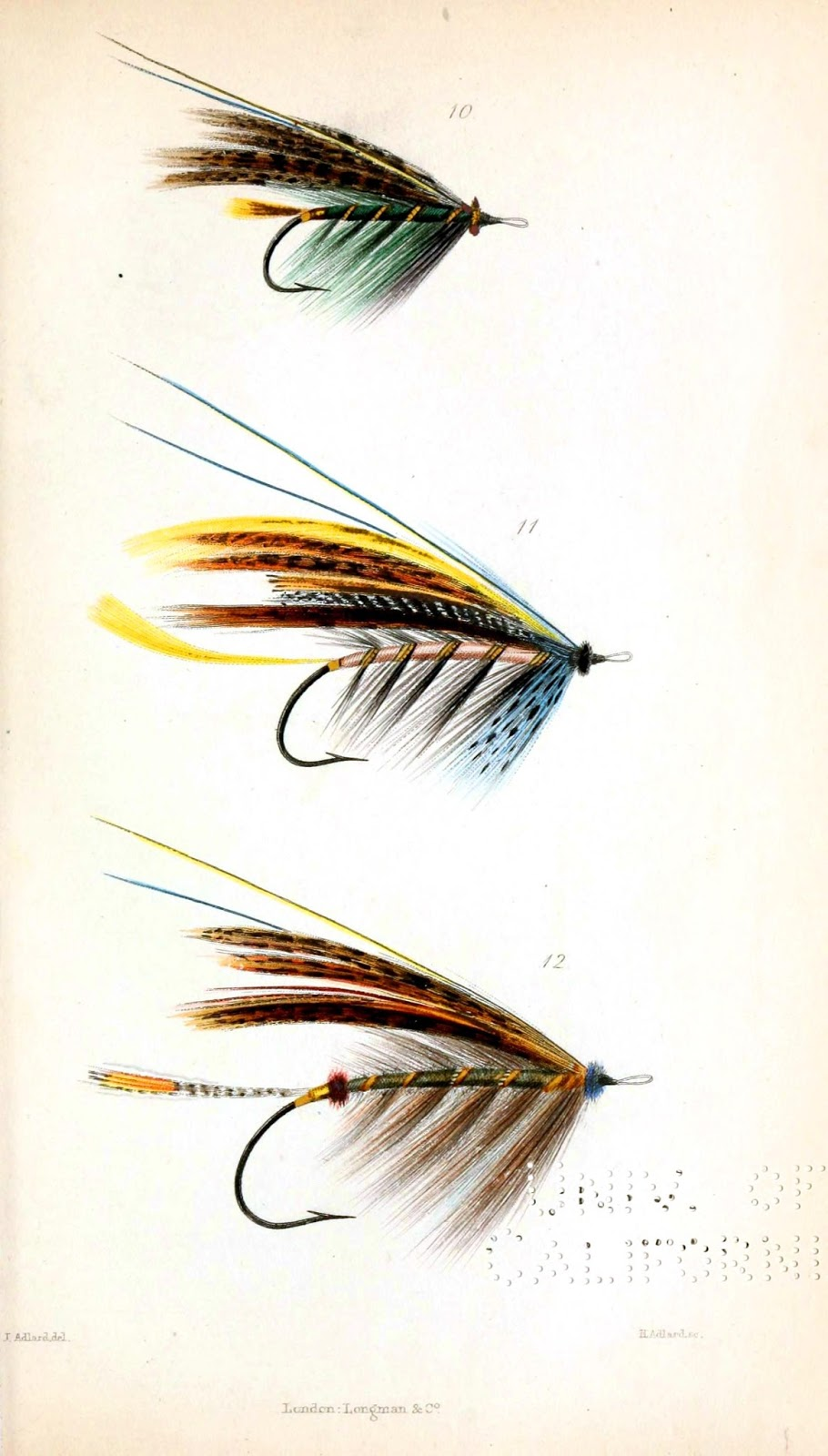 The graffical muse 4 pages of vintage fly fishing lures for Fly fishing lures