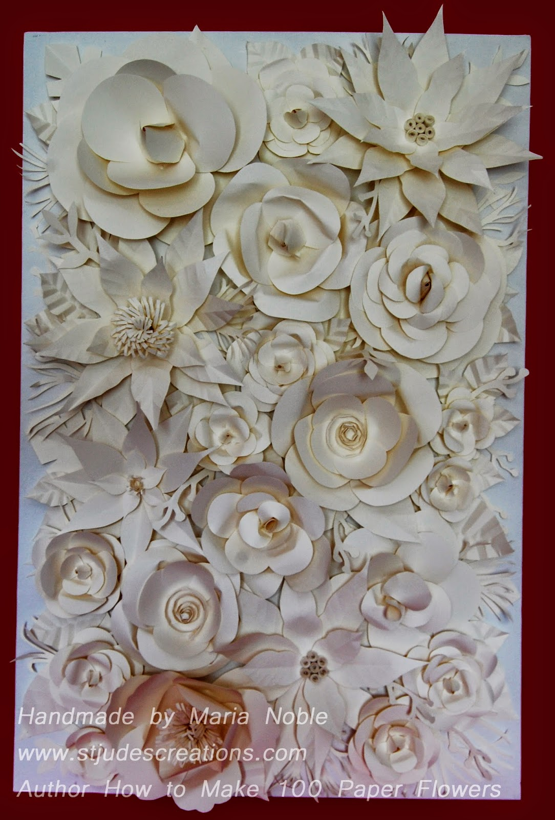paper flower backdrop wedding