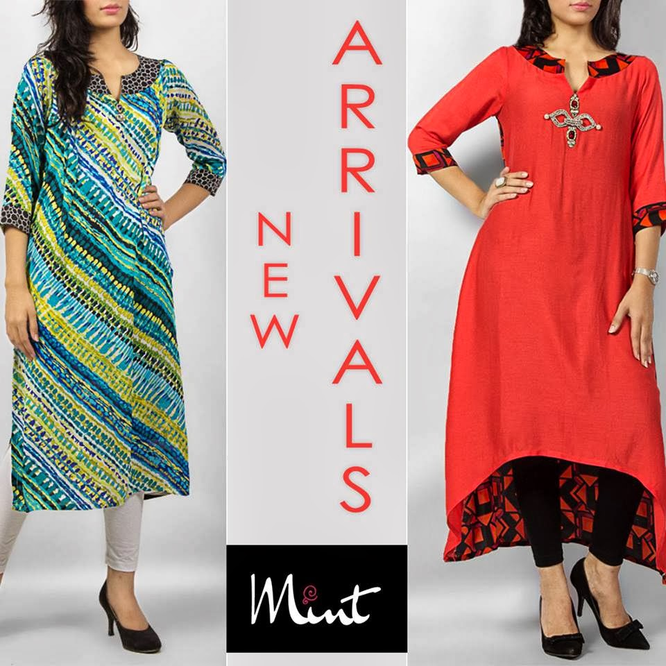 Women Wear Kurtas & Tunics Collection 2014 by Mint