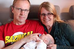 Vi och barnbarnet Benjamin. Född 1/5-2015