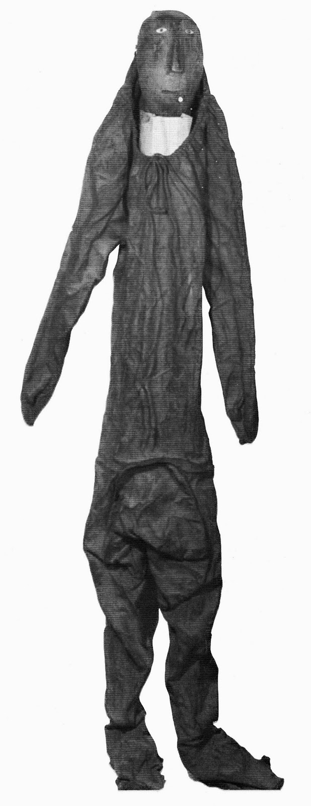 Inuit waterproof sealskin butchering suit