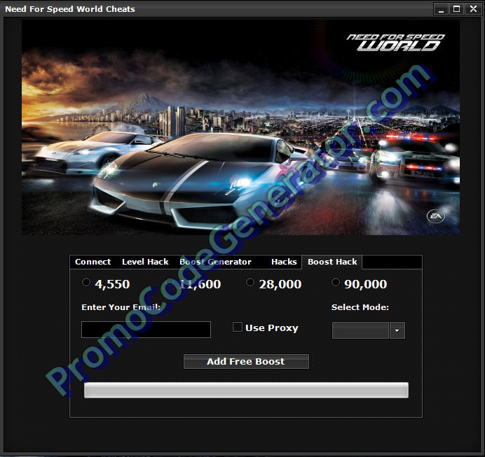 Download Need For Speed World Hack Tool