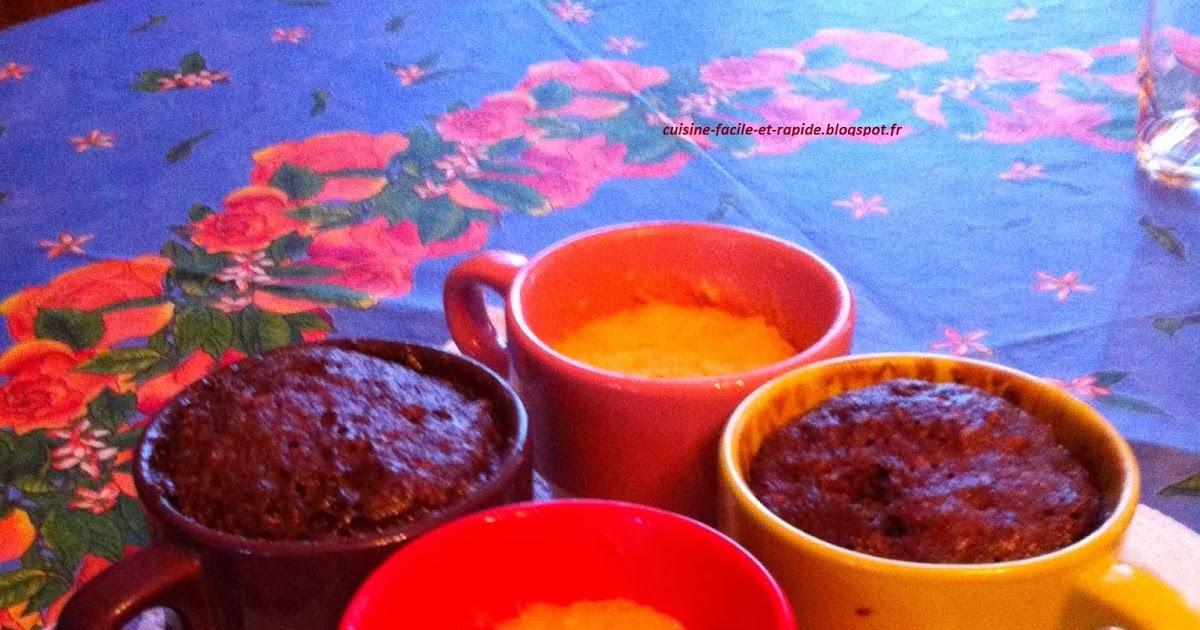 Mug Cake Au Four Traditionnel Chocolat