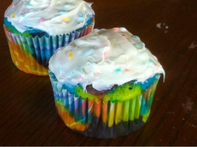 Tie Die Cupcakes by Kandy Kreations