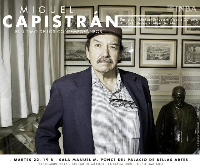 Homenaje al investigador Miguel Capistrán en el Palacio de Bellas Artes