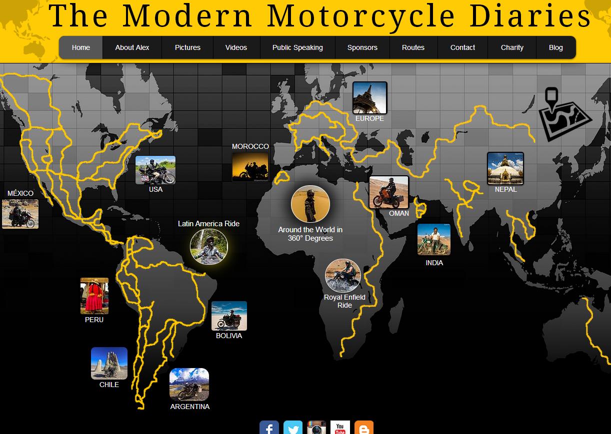 Selfie per 3 anni intorno al mondo, in moto