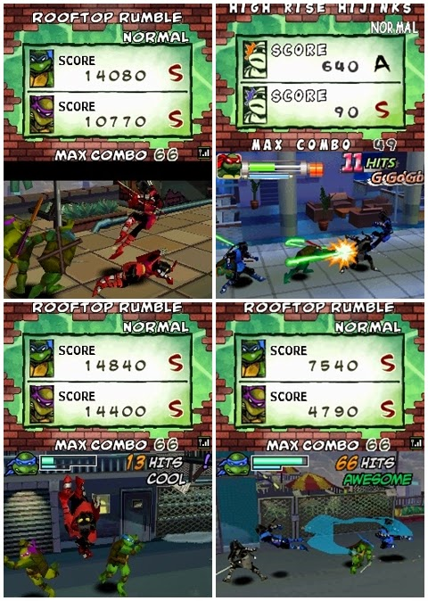 Teenage Mutant Ninja Turtles Arcade Attack nds rom download free descargar gratis